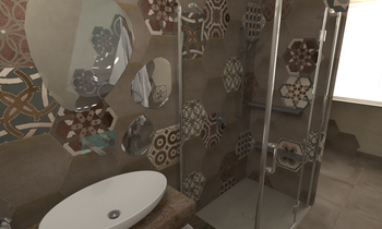 Bagno Eclectic Bathroom Steve Fulco