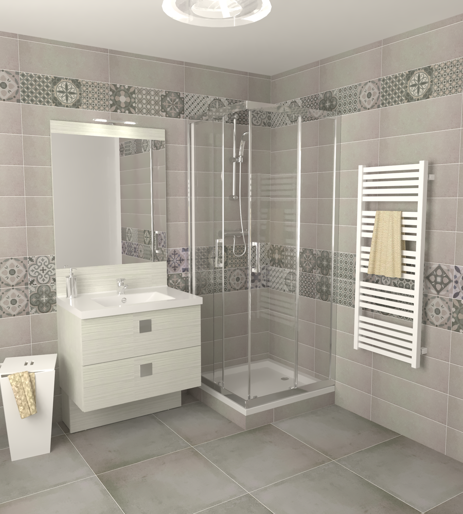Bathroom Salle De Bain salle de bain type 1 | tilelook