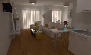APARTAMENTO TORRE V. Modern Living room Marc Domenech