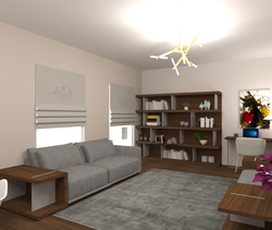 Kubika wall unit & Long b... Modern Living room Andrew Frost
