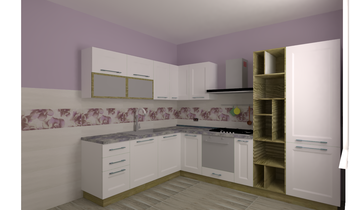 Rivestimento cucina Romantic Kitchen Antonietta Melacarne