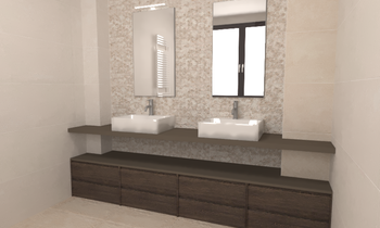 PLACIDO SANTAFE Modern Bathroom Marina Chacon Esteve