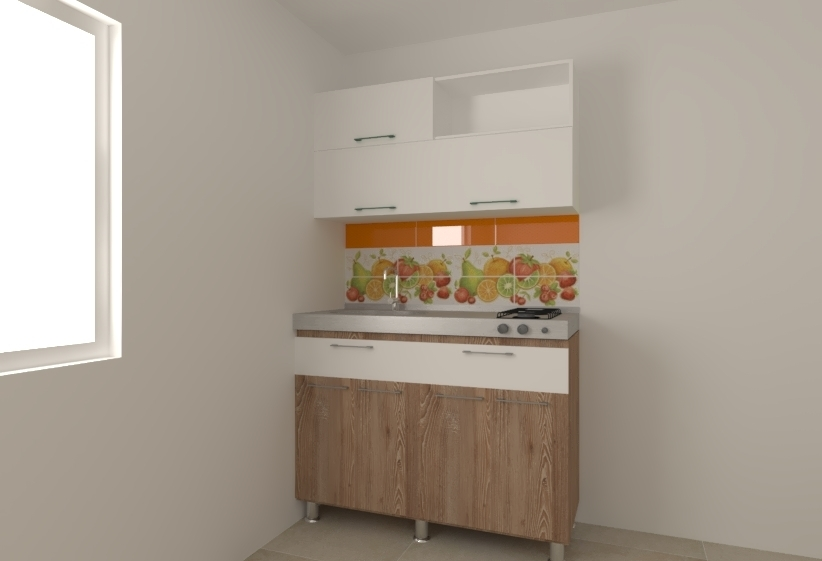 Tilelook cocina 1 20 honey white for Pisende cocinas
