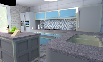 Kitchen Homy Modern Kitchen Rustitiles T&T