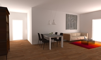 omnia Modern Living room LAKD Lattanzi Kitchen Design