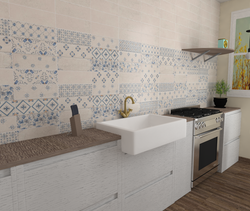 Brick Flor Kitchen Modern Kitchen Gayafores Porcelain Tiles