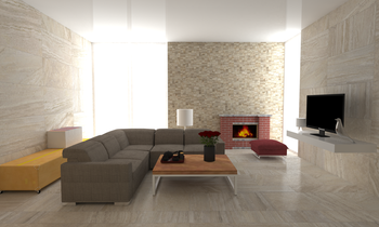 Portman Living Room Country Living room Gayafores Porcelain Tiles