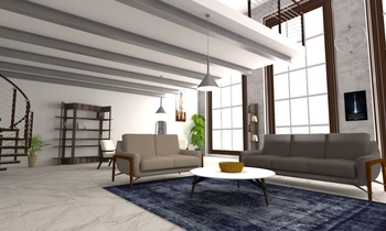 Industrial Loft 01 Transitional Living room Alessandro Lipari
