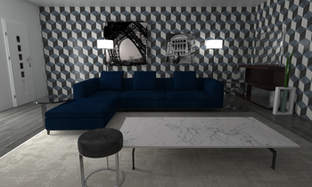 Michel Club Living Room Eclectic Living room Fabs Rossi