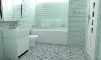 Lyon satin Eclectic Bathroom Villa Lagoon Tile