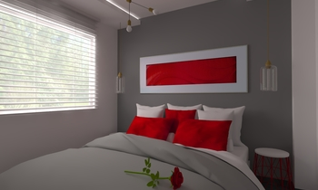 San Valentín Contemporary Bedroom Aurum  Construcciones