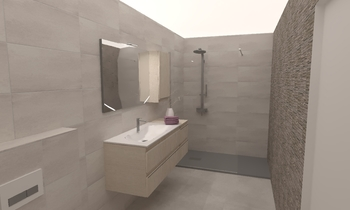 UPTOWN PROJETS - D4 Classic Bathroom Christine Brunette