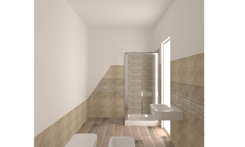 laratta  mansarda Classic Bathroom Giuseppe Esposito vivino