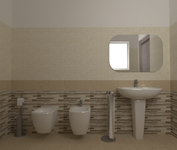 Tilelook: Bagno con piastrelle mgm line tortora