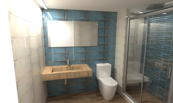 Smart blue collection montblanc by cifre ceramica tilelook - Bathroom items that start with l ...