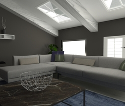 Mansarda Contemporary Living room Alessandro Lipari