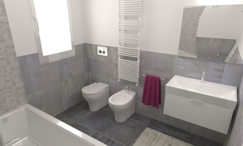 Bagno tipo 2 H Contemporary Bathroom Ettore Brolese