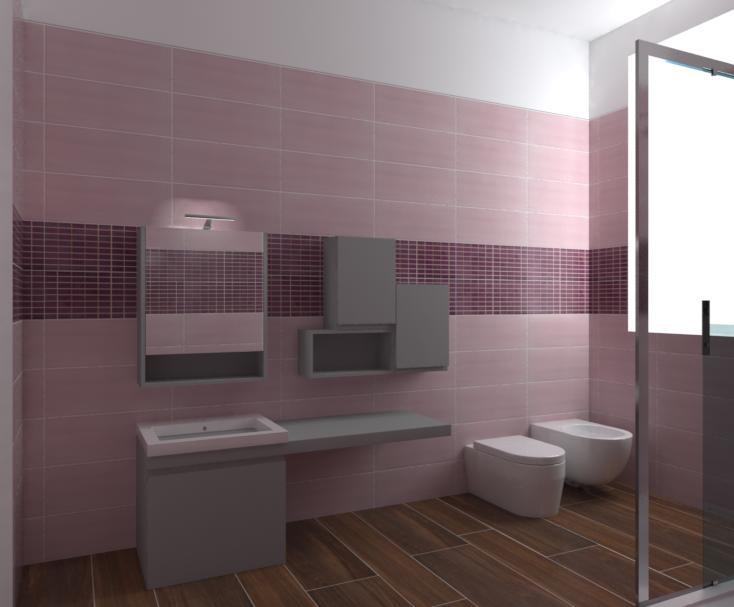 Tilelook bagno vignali nuance rosa - Progetto bagno paderno ...