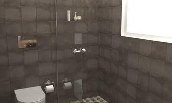 Pavimenti vintage bagno piastrelle per il bagno rustico foto