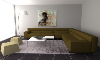 LL2 Contemporary Living room NATUZZI ITALIA STORE DURINI