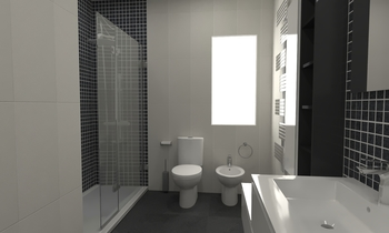 Baño Blanco-Negro Contemporary Bathroom Alberto Firmat Várez