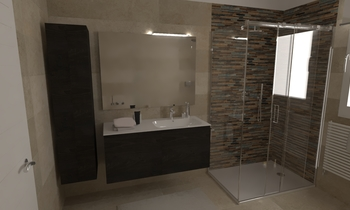 150 Contemporary Bathroom LONGO SRL Superfici & Arredo