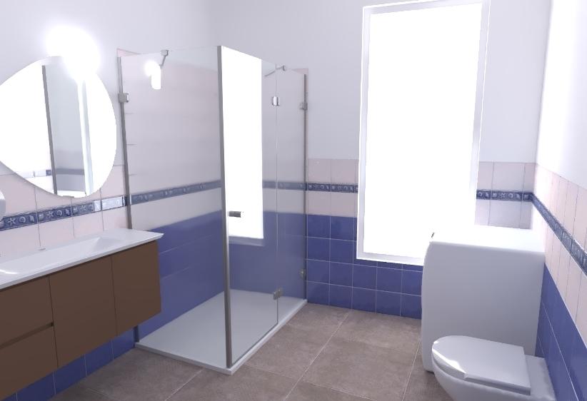 Tilelook bagno bianco e blu - Bagno blu e bianco ...