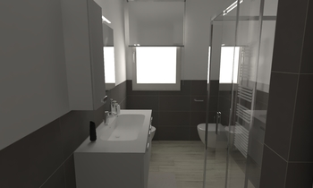 163 Contemporary Bathroom LONGO SRL Superfici & Arredo