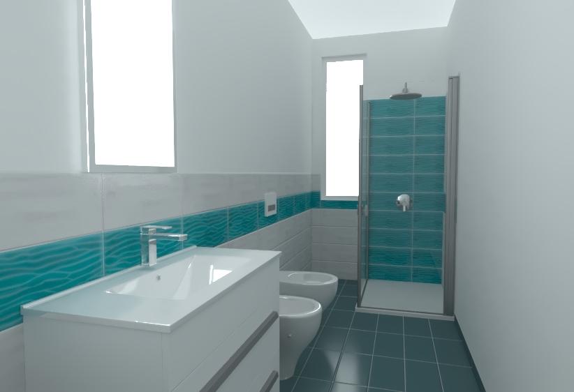 Bagno Paul verde acquamarina. D3d default rendering001 001