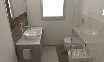168 Contemporary Bathroom LONGO SRL Superfici & Arredo