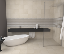 Spazio Beige Mix listelli... Contemporary Bathroom Casalgrande Padana