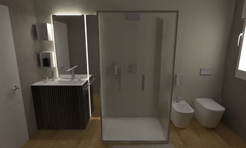 178 Contemporary Bathroom LONGO SRL Superfici & Arredo