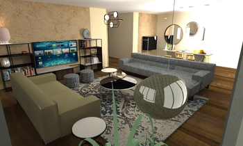 7 villas Seri Berigin Contemporary Living room Natuzzi Italia Store Tottenham Court Rd.