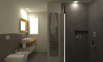 180 Contemporary Bathroom LONGO SRL Superfici & Arredo