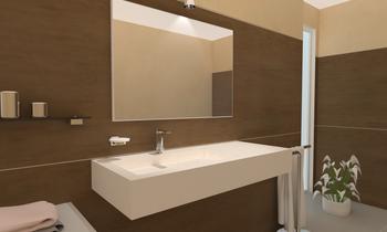 Tilelook bagno con lavabo in gres artè