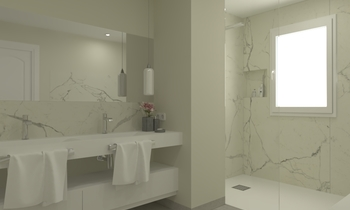 Statuario Contemporary Bathroom Aurum  Construcciones