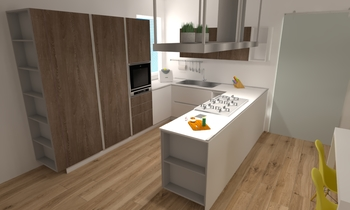 dario living Modern Kitchen Aiello Ceramiche