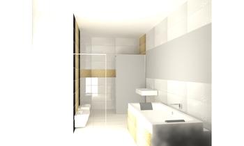 Łazienka złota Classic Bathroom Tomasz Wyrozębski