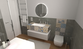 204 Contemporary Bathroom LONGO SRL Superfici & Arredo