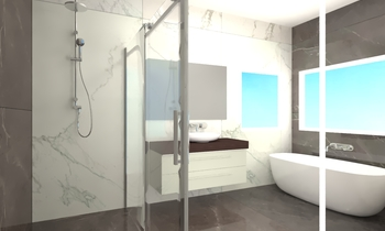 MASTERMAN HOMES - THE GAP... Classic Bathroom UPTILES STRATHPINE QLD AU