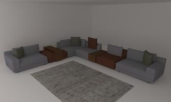 Test 1 Klasický Obývací pokoj Natuzzi Italia Store Rotterdam