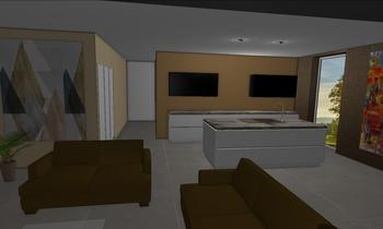 Nappali+folyoso Modern Oturma odası Gabor Veze
