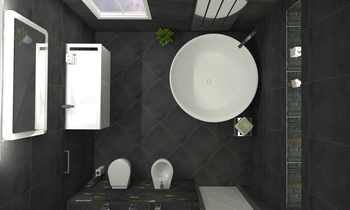New Render - Black Classic Bathroom Pablo Bas