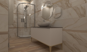 Bagno Piano Terra Contemporary Bathroom  AmbienteBagno  Antichi