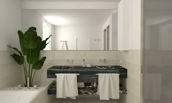 SA H. Negra Contemporary Bathroom Aurum  Construcciones