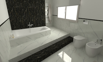 225 Contemporary Bathroom LONGO SRL Superfici & Arredo