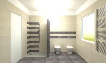 bagno zona giorno Klasický Koupelna Cristina Liziero