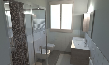 226 Contemporary Bathroom LONGO SRL Superfici & Arredo