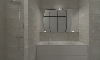 DOMO 30X90 Contemporary Bathroom Nathalie  Faivre