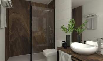SA Sótano Contemporary Bathroom Aurum  Construcciones